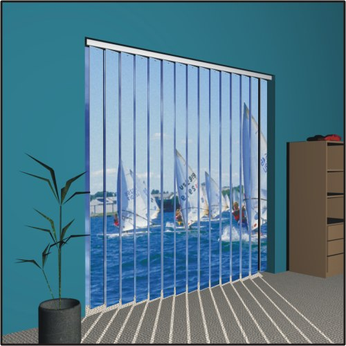 Our invention is a line of window blinds which are decoratively painted in a variety of unique and traditional designs. Design intent is to improve existing blinds as well as capitalize on the opportunity to provide more visual interest.