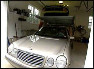 The Car-Lift can be used in existing garages with heights starting at 9-foot 6-inches.